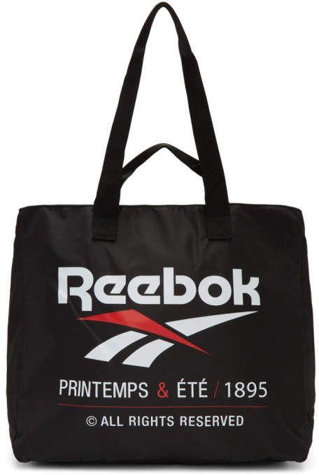 Reebok Classics Black Classic Printemps and Ete Tote | Bags