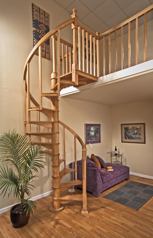 4 39 0 diameter oak kit optional balcony condition landing - Home designer stairs with landing ...