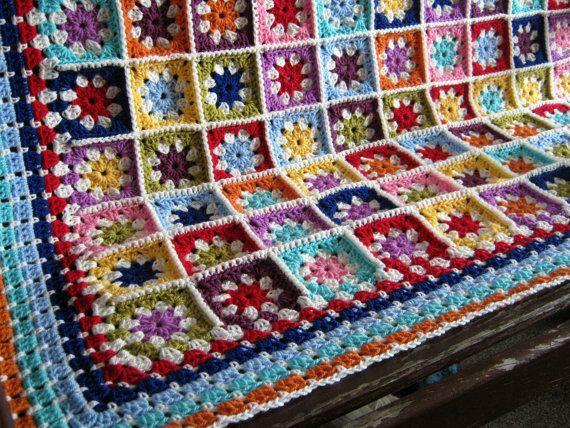 Margarita manta abuela cuadrados ganchillo afgano por Thesunroomuk ...