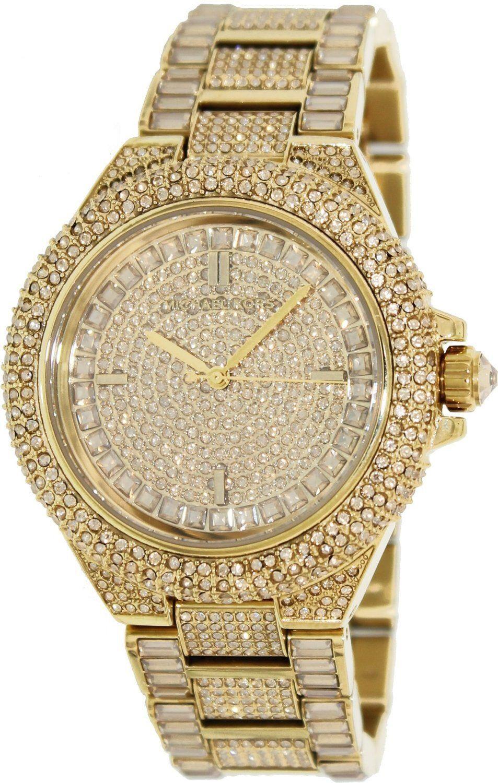 Gold diamond mk watch  e81554aef582