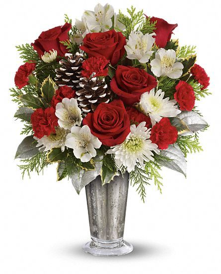 Teleflora's Timeless Cheer Bouquet Of #Christmas #flowers