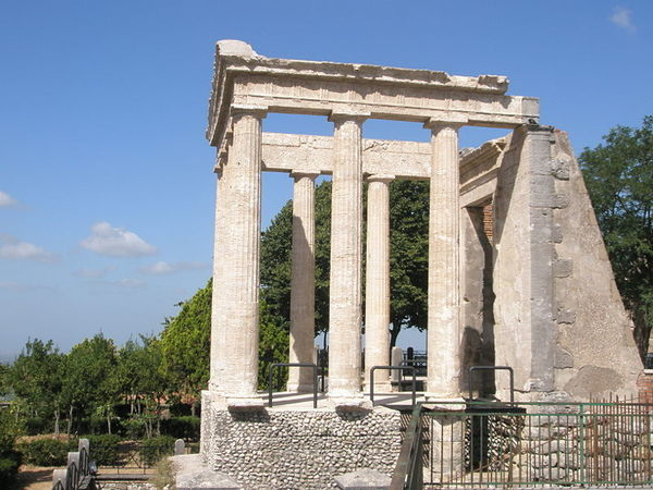 The ruins of this Roman temple dominate the small city in southern Lazio.