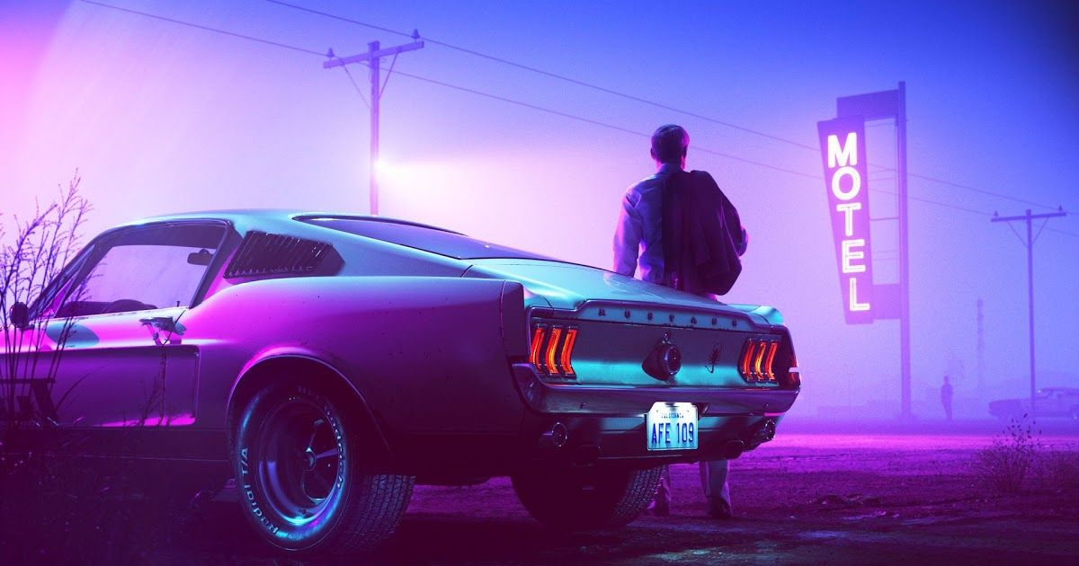 Wallpaper Abyss Dedicated To The Synthwave Music Scene A Revisionist Music Style Of Synthesizers And Pulsing Beat Car Wallpapers Synthwave Vaporwave Wallpaper
