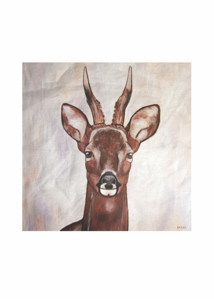 SCARF ROE DEER - DEAU  http://shopvida.com/collections/dominique-janssens  #roe #deer #christmas #fashion #pillow #interior #forest #nature #home #decoration #luxury #scarf #tote #bag