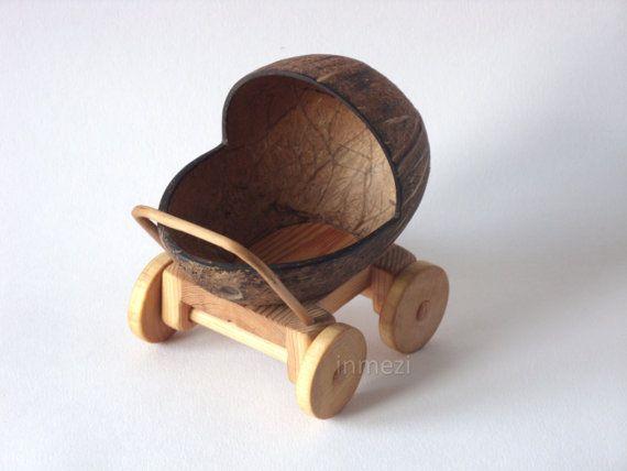 Wooden Pram Craft Project Ornament