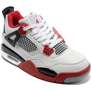 Nike Air Jordan 4 Womens Basketball Shoes White/Red/Black, cheap Womens  Basketball Shoes, If you want to look Nike Air Jordan 4 Womens Basketball  Shoes ...