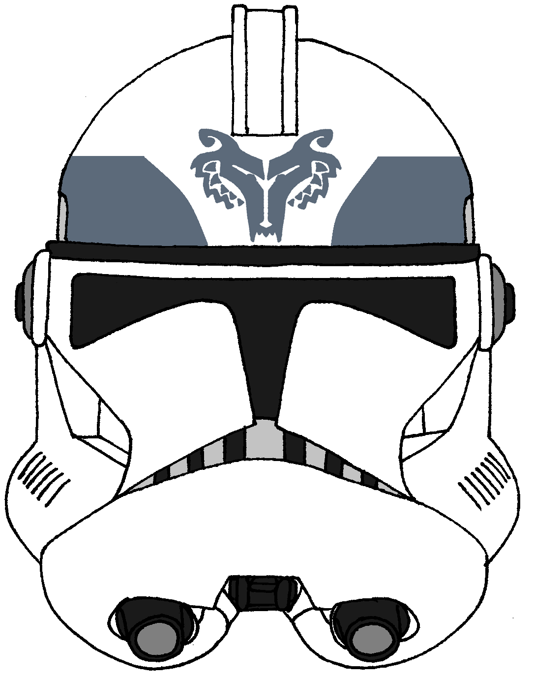 Clone Trooper Helmet Wolfpack 3 Star Wars Art Star Wars Helmet Star Wars Clone Wars