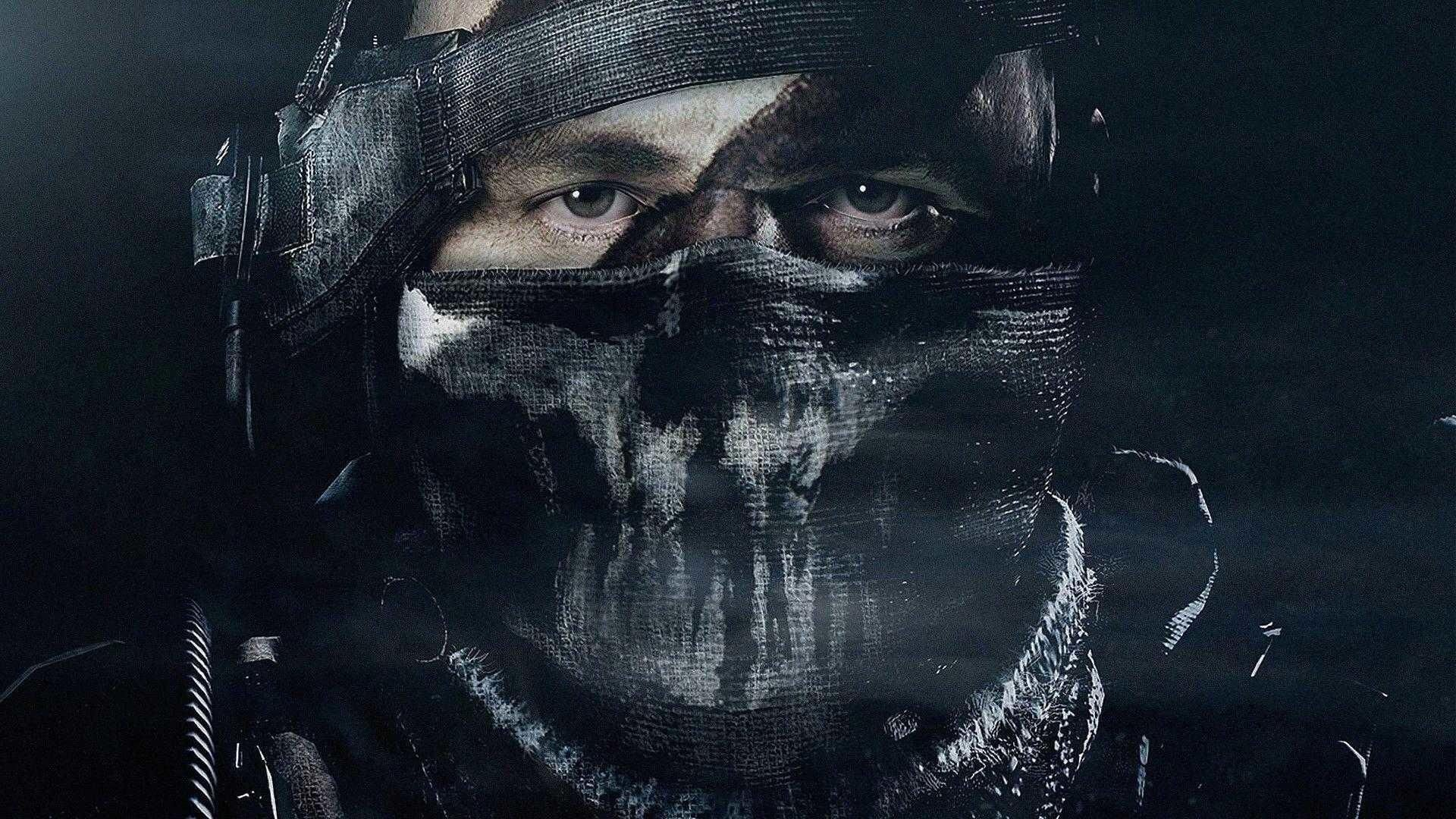 Cod Ghost Merrick 1920x1080 Call Of Duty Ghosts Call Of Duty Black And White Face
