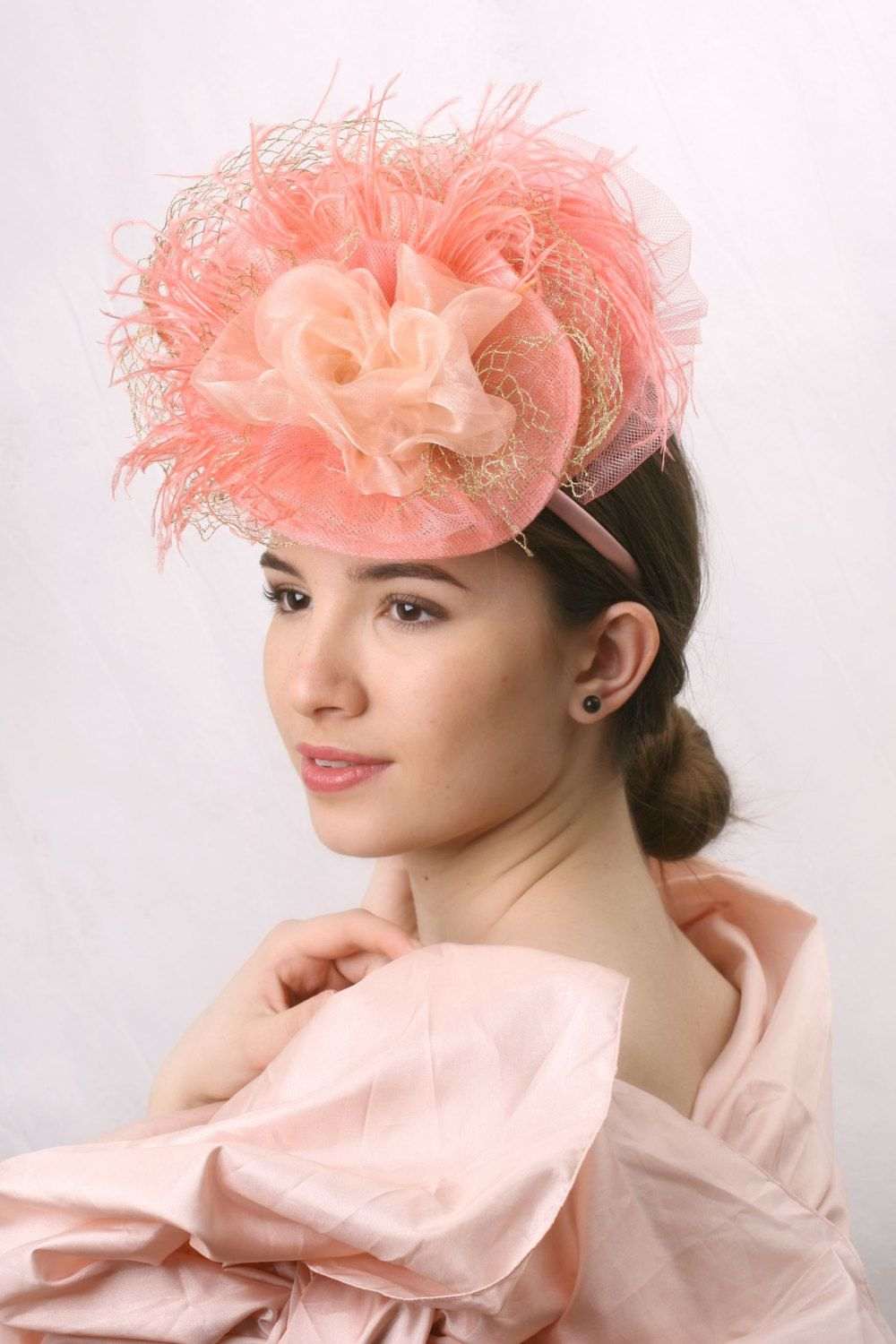 Light Coral Royal Ascot Fascinator 1d1d522fe65