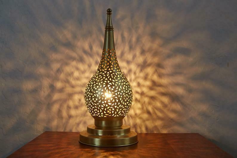 Moroccan Handmade Table Lamp Silver Handmade Moroccan In 2020