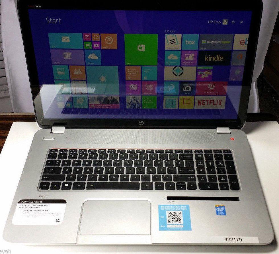 Hp Envy 17 J157cl Touch I7 Laptop 12gb Memory W Leap Motion Win 8 1 Beats Audio Hp Beats Audio Leap Motion Laptop