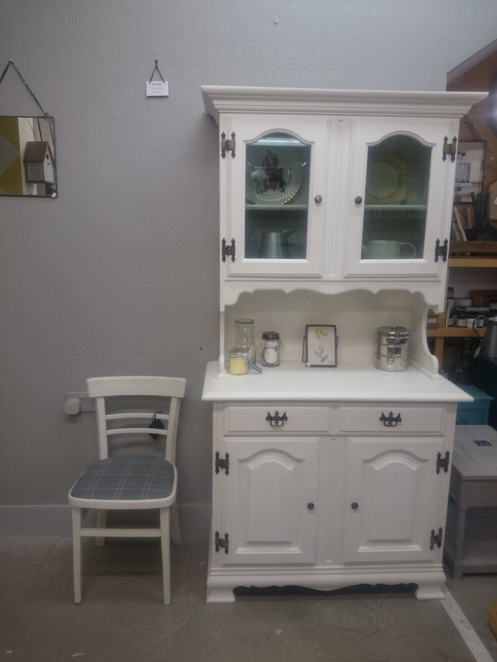 Petite Welsh Dresser In Old White Chalkpaint Dresser Drawers