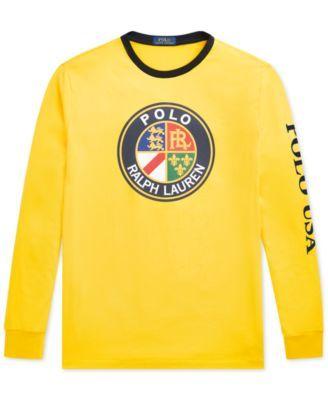 21e0bf65419a7 Polo Ralph Lauren Downhill Skier Men s Graphic Long-Sleeve T-Shirt - Racing  Yellow XXL