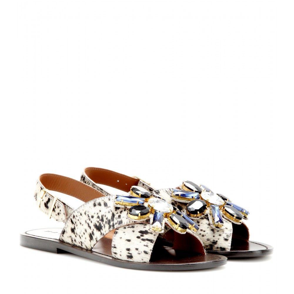 fe6a2d70cede2d Marni embellished pony-hair sandals
