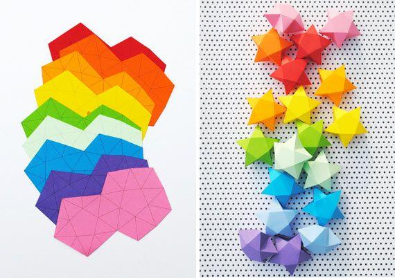 fabriquer des etoile en origami objets bo tes d cos papier manualidades papiroflexia et. Black Bedroom Furniture Sets. Home Design Ideas