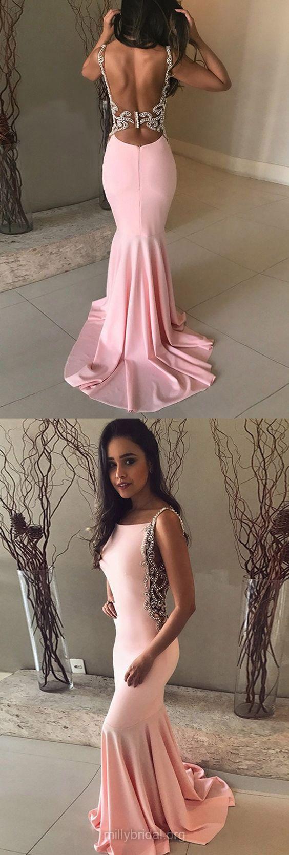 Pink prom dresses long prom dresses prom dresses trumpet