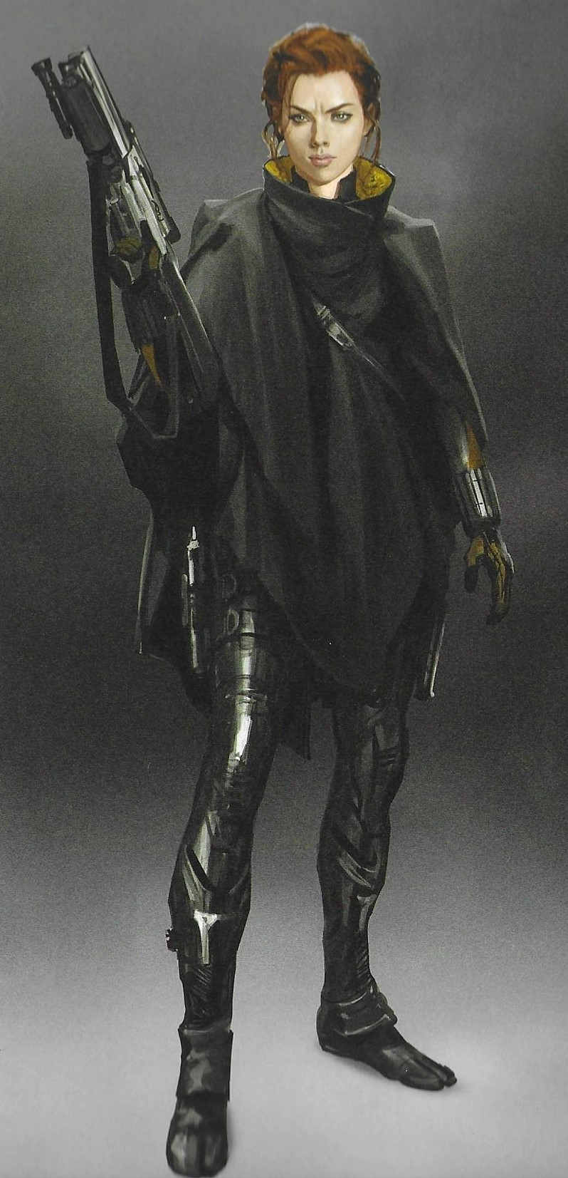 Avengers Endgame Concept Art Reveals Alternate Five Years Later Hawkeye Ronin And Black Wido Black Widow Costume Black Widow Marvel Captain Marvel Costume