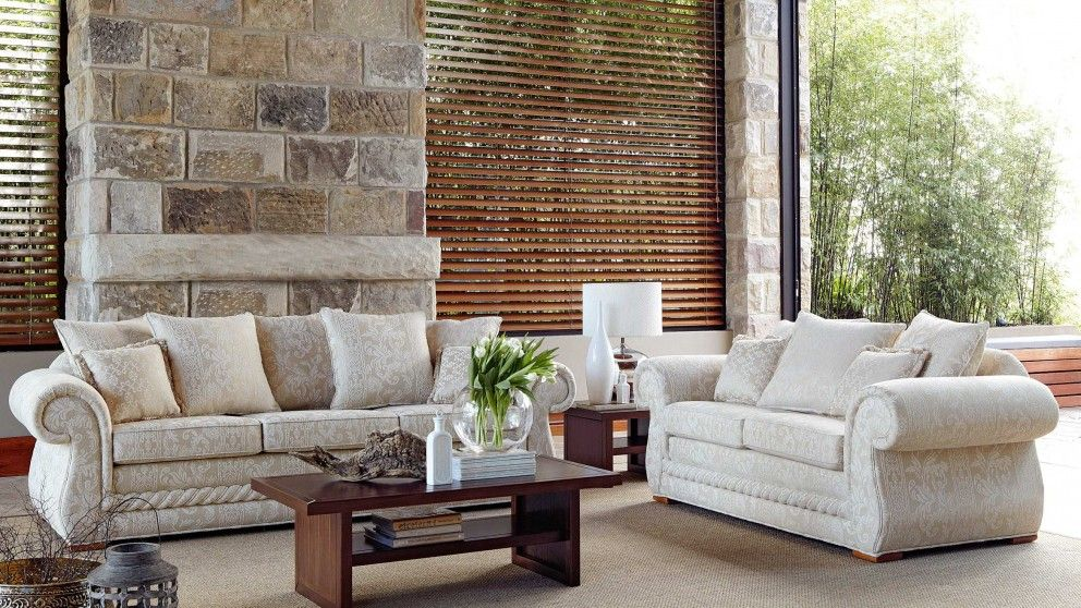 Tuscany 3 Seater Fabric Sofa Lounges Living Room Furniture