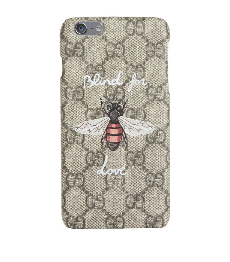 5a41d6eda99 Women  10% Exclusions Gucci Bee GG Supreme iPhone 6 Plus Case ...