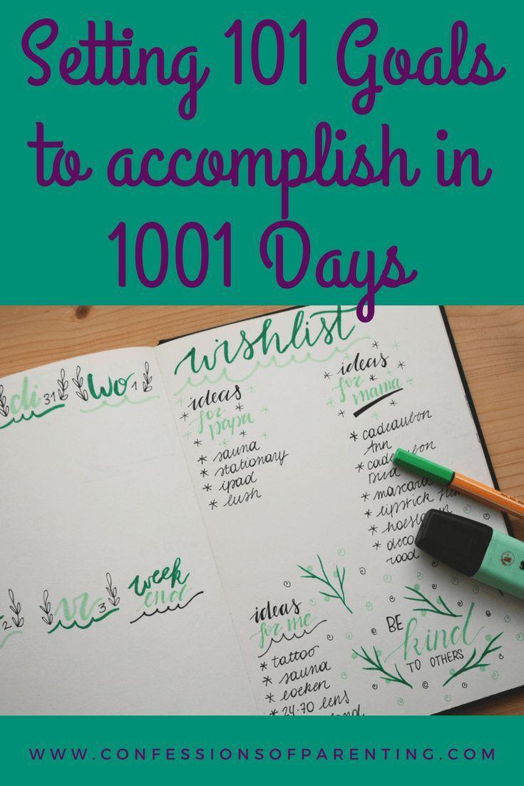 Setting #101 #goals in #1001 #days #setgoals #goal #planning
