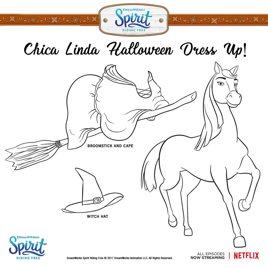 Print And Color Chica Lindas Costume