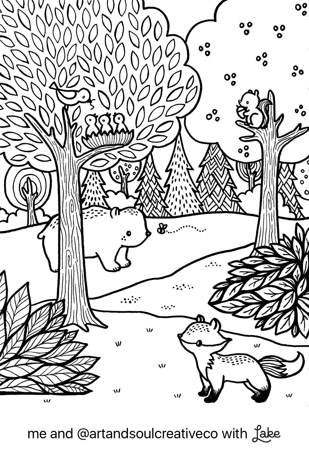 Coloring Page From Lake App