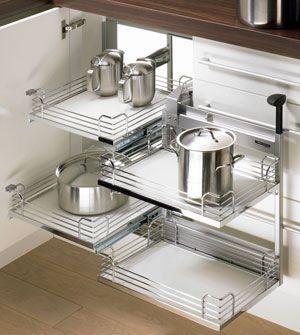 Awesome Hettich Moving Corner   Kitchen Corner Cabinet Solutions   Kitchen .
