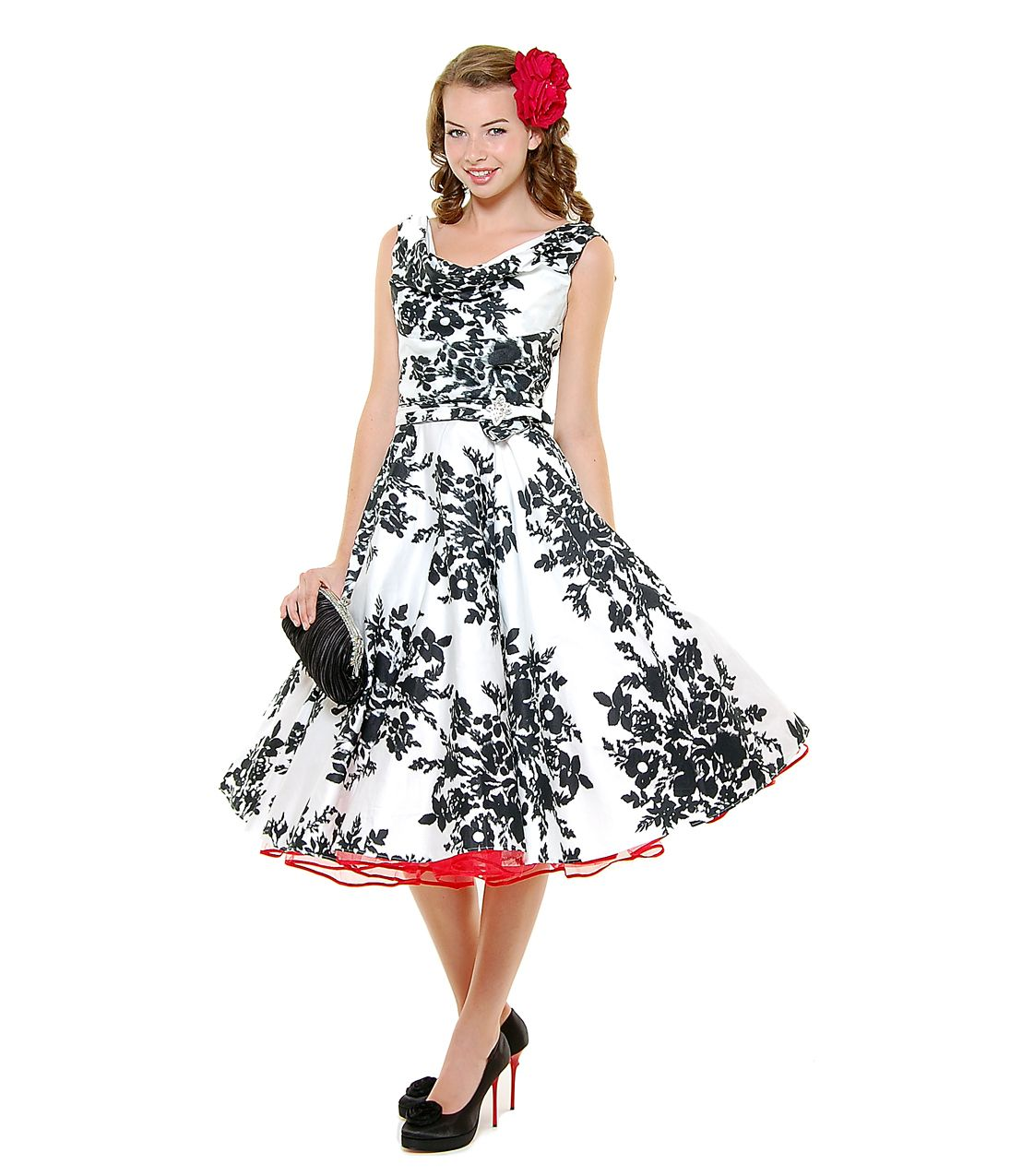 168 Stop Staring! 1930s Style Navy & Ivory Railene Dress | Scoop ...