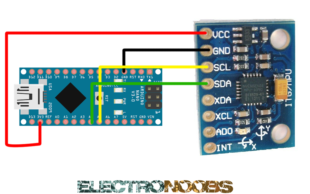 MPU6050 data read with arduino and example code | Arduino