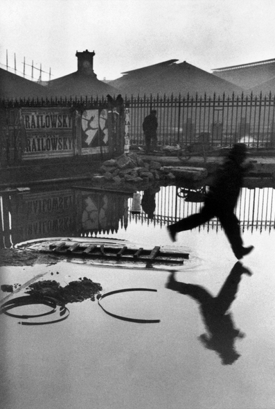 Photograph by Henri Cartier-Bresson  One of his penultimate decisive moment images.