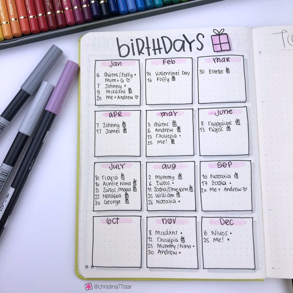 Setting Up my Bullet Journal for 2019 (+video)