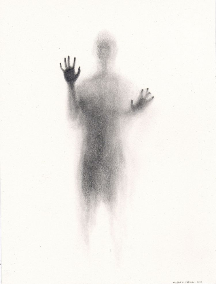 A bit spooky, isn't it? Colombia-based fine artist Hernan Marin created this simple yet incredibly haunting image using just graphite on paper. It almost feels as though someone is trapped inside the paper, begging to be let out. via [Standing at a Distance]