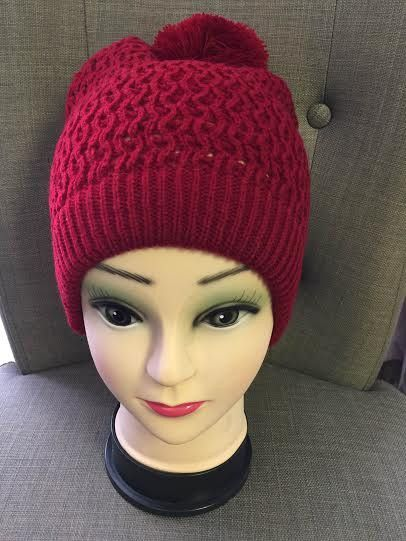 Comfy, red knit beanie