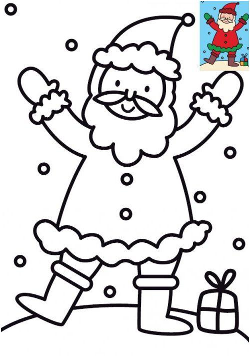 11 Qualité Coloriage Père Noel Pics | Coloriage lutins de noel