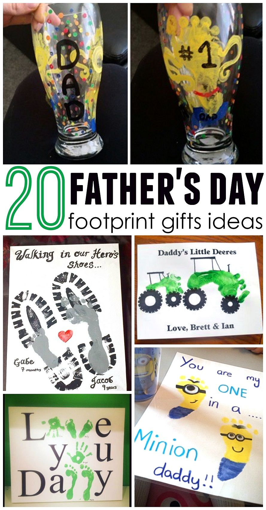 These Are Soo Cute Father S Day Footprint Gift Craft Ideas For The
