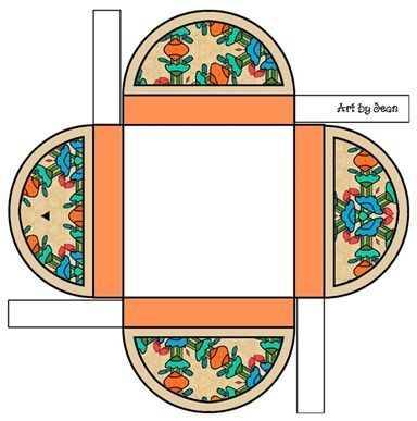 flat gift box with pretty topper free template crafty 2 the core