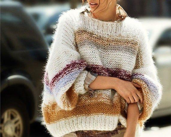 Key Largo Damen Strickpullover Pullover Oversize Look Sweater Jumper Casual