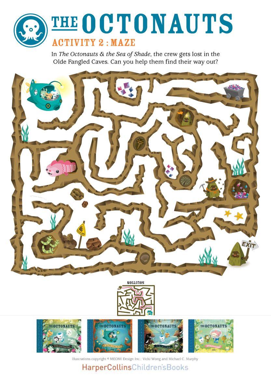 Octonauts maze printable | всячина | Pinterest | Fiestas