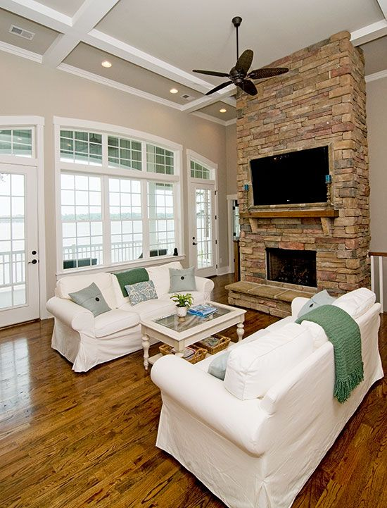 Cool Sunken Living Room Ideas For Your Dreamed House: Craftsman Living Rooms, Home, Small Dream Homes