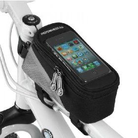 New Red Cycling Bike Frame Pannier Bicycle Front Tube Bag For Cell Phone