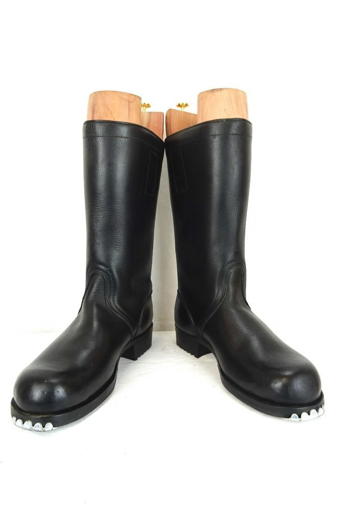 German Bundeswehr High Leather Boots Continental Sole SIZE 8