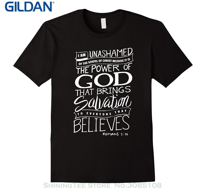Gildan New Design Cotton Male Tee Shirt Designing I Am Unashamed Of