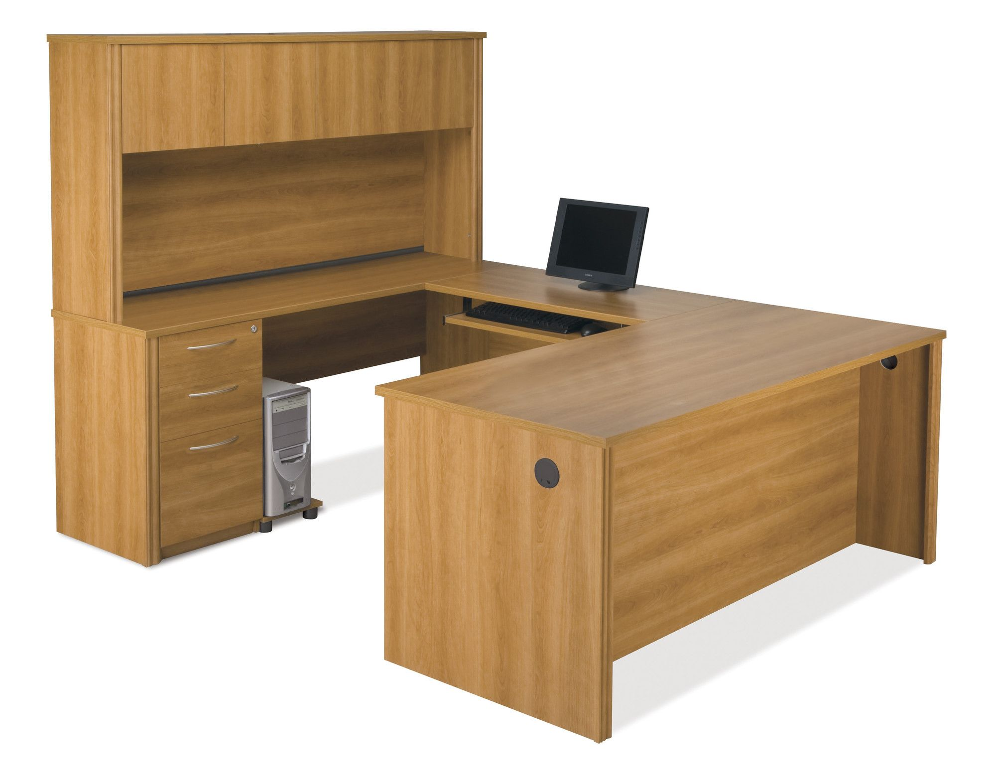 Witchel u shape executive desk with hutch in 2018 products