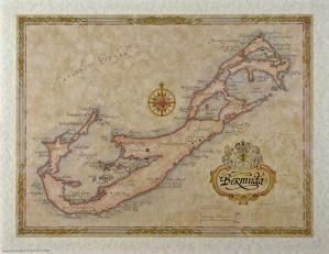 Bermuda Antique Style Map