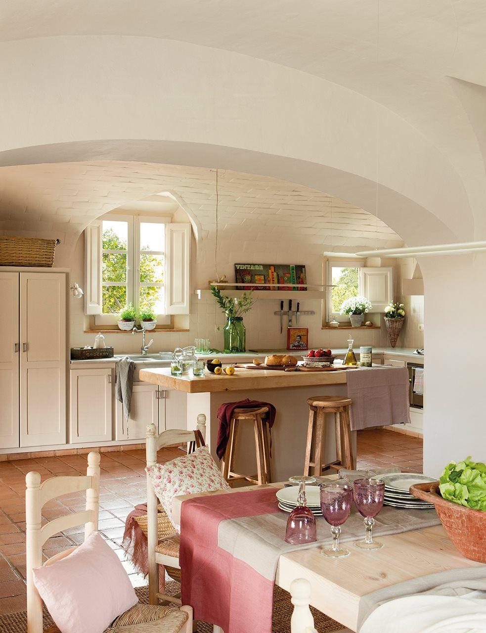 Masía decorada con estilo vintage   detalles   Pinterest   Casas ...