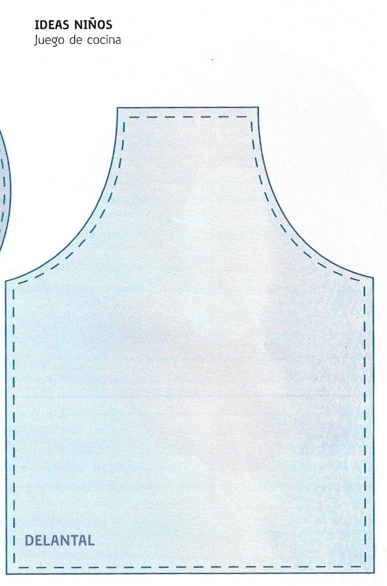 56df1f19fa4 Cómo Hacer · Molde para gorro Cocina Para Niños, Delantales De Cocina,  Manualidades Para Niños, Cocinas