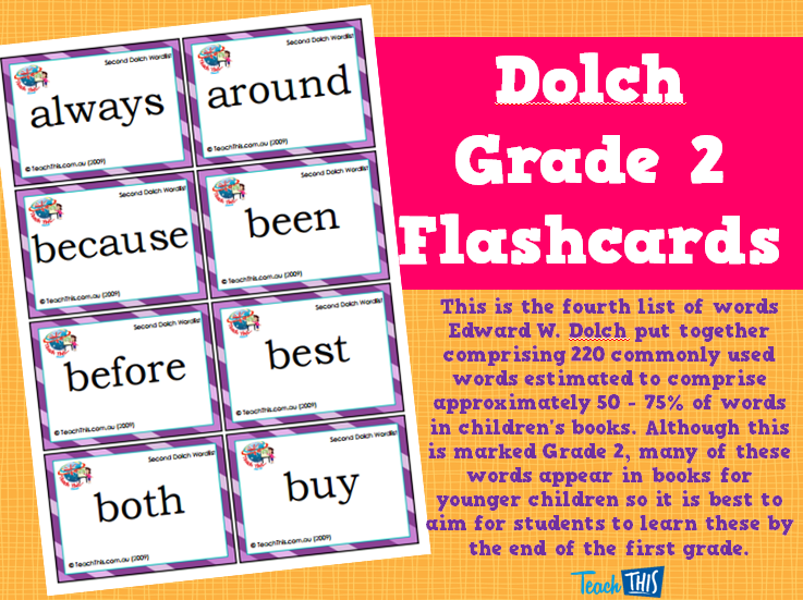 Dolch Grade 2 Flashcards | English | Pinterest | Youngest child ...