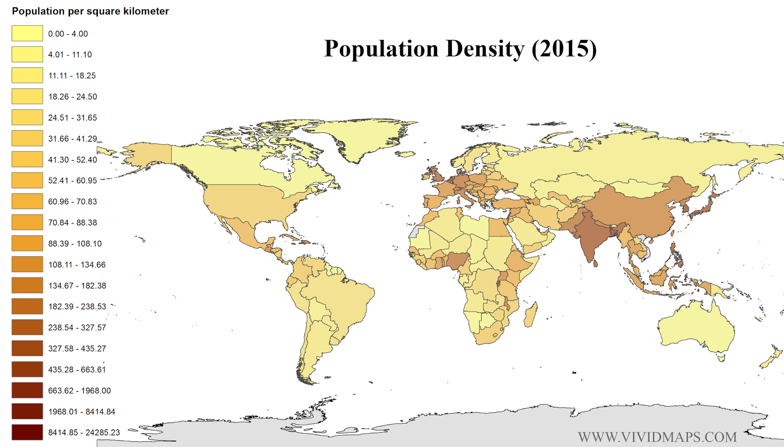 Population Density Population Pinterest - Australia population density map 2015