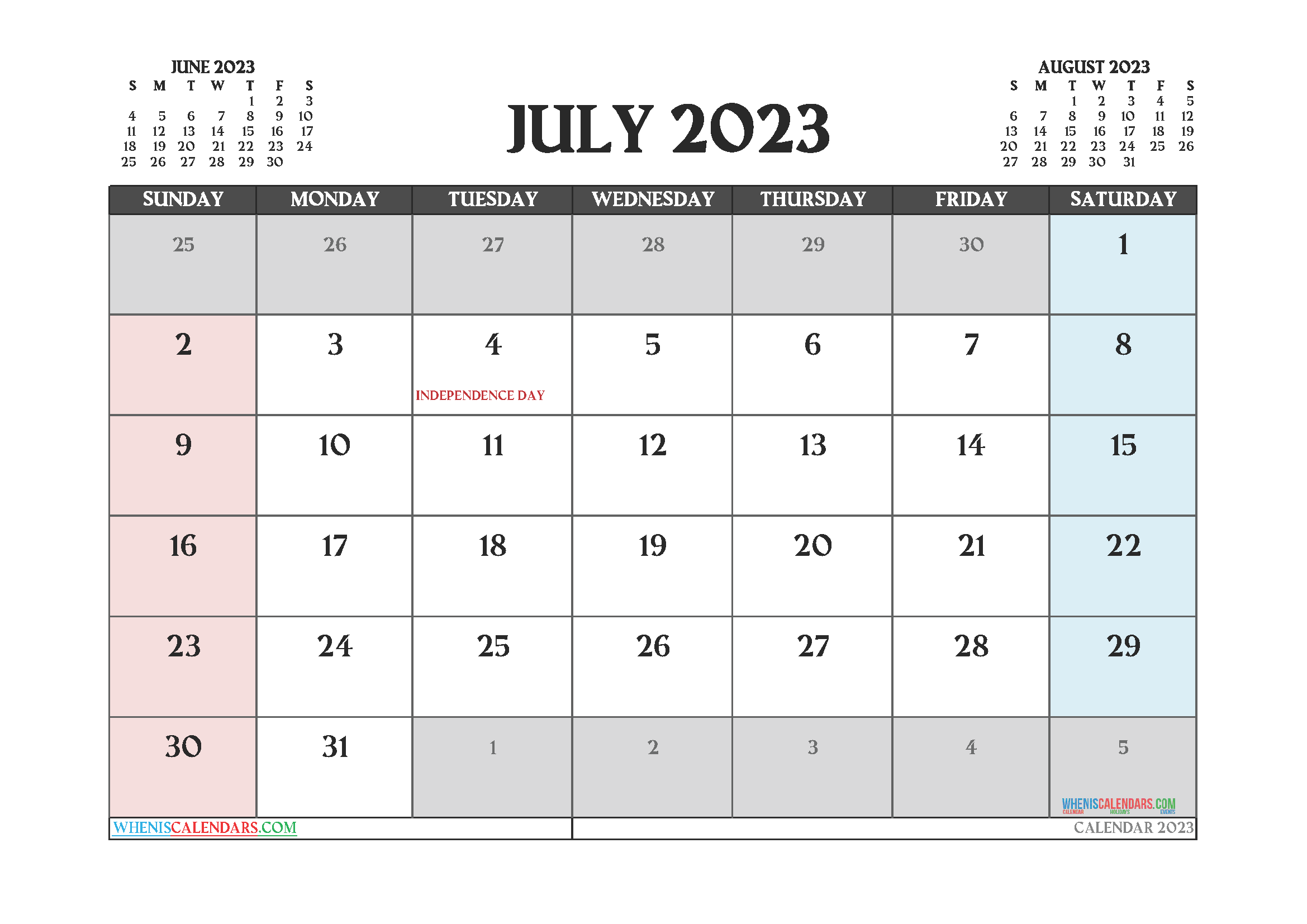 Printable July 2023 Calendar Free 12 Templates In 2020 Calendar Uk 2021 Calendar Calendar Printables