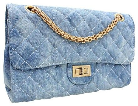 031868c8d09 Diamond Washed Clutch Blue Gold Quilted Denim Satchel. Save big on the  Diamond Washed Clutch Blue Gold Quilted Denim Satchel!
